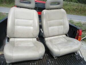 1992 Pathfinder Front Leather Seats L R Tan