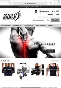 Well Established E commerce Business For Sale Omnibrace Medical Supply Company