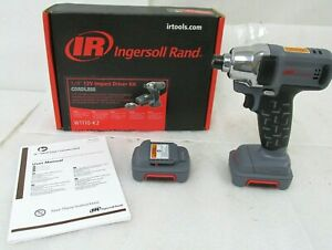 Ingersoll Rand W1110 k2 12v 1 4 Hex Impact Wrench W 2 Batteries No Charger