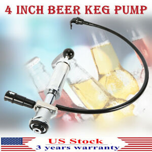 Beer Keg Pump Short Lever Handle 4 College Party Picnic Tap D System Best