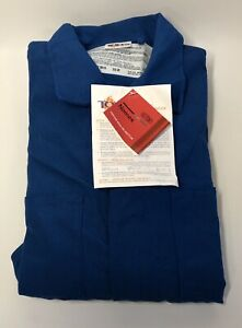 Topps 6 Oz Nomex Iiia Flame Resistant Coverall 5 7 Arc Rating Royal Blue 52 r