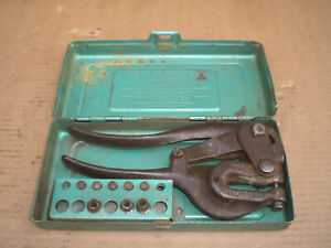 Whitney No 5 Hand Punch With Punches And Storage Case