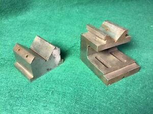 Two Vintage Machinist V Blocks Milling Workholding Clamping