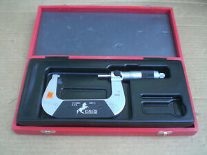 Etalon Micrometer 2 3 With Carbide Tipped 0001 Swiss Made With Case