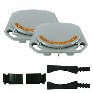 2 Wheel Car Truck Front End Wheel Alignment Turntable Turn Plates Tool 1500kg Us