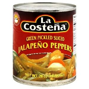 La Costena Slice Jalapeno Pepper 28 Ounce 12 Per Case