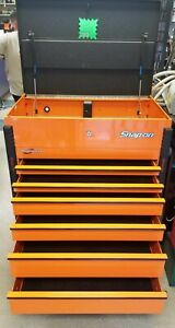 Snap on Pro Charger 6 Drawer Orange Roll Cart Tool Chest Box