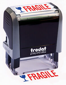 Trodat fragile Self Inking Rubber Stamp