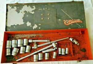 Vintage Williams Tool Lot 1 2 Drive Sockets With S 5 Case