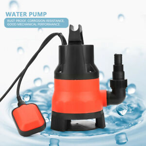 Heave Duty 400w Electric Submersible Pump For Clean Dirty Flood Water 110v Us