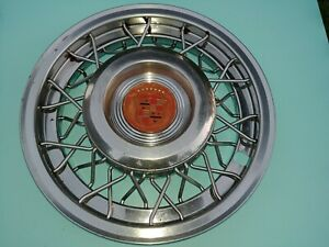 15 Cadillac Oem Wire Spoke Hubcap Wheelcover 1 Used Original Fits 1956