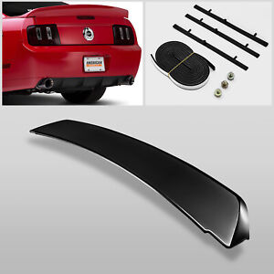 For 05 09 Ford Mustang Gt500 Duck Tail Style Gross Black Rear Trunk Spoiler Wing