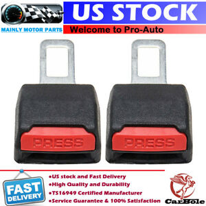 2pcs Auto Car Safety Seat Belt Buckle Extension Universal Alarm Extender Clip Us