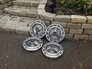 Vintage Ss Hub Caps Set Of 4