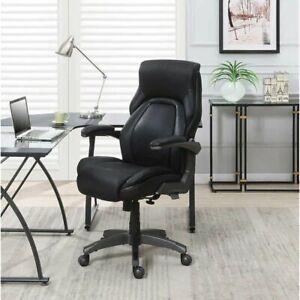La z boy Managers Chair Active Lumbar Support Home Or Office Black Leather