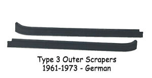 Vw Type 3 1961 1973 Outer Window Scrapers Rubbers Notchback Squareback Fastback
