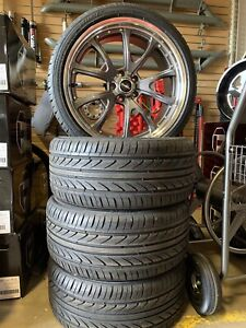 New Ford Mustang 20x9 Front 20x10 Wheels 275 30 20 Square Set Up On Tires