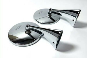 Pair Exterior Rear View Bowtie Mirrors For 1963 1967 Chevy Corvette Left Right
