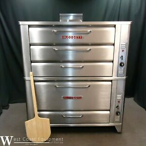 Blodgett 981 966 Commercial Gas Triple Deck Bakery Pizza Oven Excellent Bake