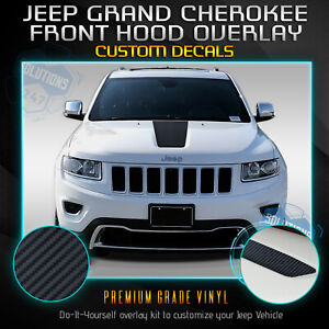 For 2011 2019 Jeep Grand Cherokee Front Hood Graphic Decal Matte Carbon Fiber
