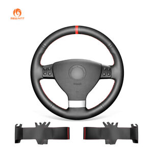 Pu Leather Car Steering Wheel Cover For Volkswagen Vw Jetta Tiguan Passat Eos