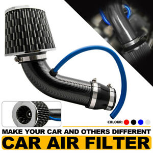 Universal 3 Inch 76mm Car Cold Air Intake Filter Induction Kit Pipe Hose System