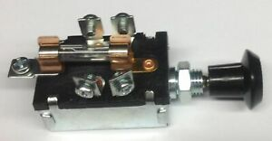 Universal Headlight And Parking Light Switch W Fuse
