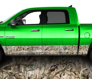 Camo Obliteration Buck Rocker Panel Graphic Decal Wrap Kit Truck 26 Ft Matte