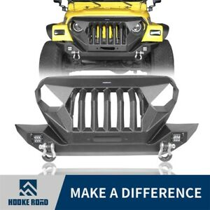 Hooke Road Mad Front Bumper Grille Full Guard Fit 1997 2006 Jeep Wrangler Tj