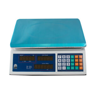 Digital Weight Scale Price Computing Retail Food Meat Scales Count Machine Easy
