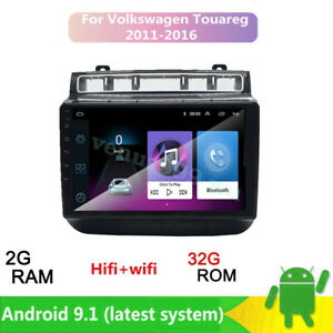 Android 9 1 2 Din Car Stereo Radio Gps Player For Vw Volkswagen Touareg Wifi Bt