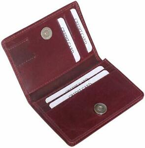 Brown Unisex Leather Thin Credit Card Case Travel Wallet Bhanu Packaging