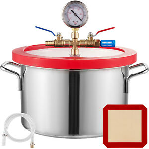 1 5 Gallon Vacuum Chamber Stainless Steel Kit Acrylic Lid Degassing Urethane