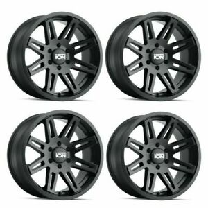 Set 4 18 Ion 142 Matte Black Lifted Truck Wheels 18x9 6x5 5 0mm 6 Lug Rims