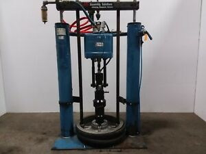 Ir Johnstone 65 1 55 Gal Air Pneumatic Drum Barrel Pump Unloader Tested