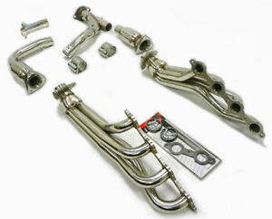 Obx Catted Long Tube Header For 09 13 Chevy Gmc P U Truck Suv 4 8l 5 3l 6 0l