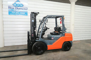 2016 Toyota 8fgu32 6 500 Pneumatic Tire Forklift Lp Gas 3 Stage 4 Way Hyd