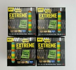 Post it Extreme Notes 3 x3 4 Pack Bundle 2160 Notes Total Free Shipping