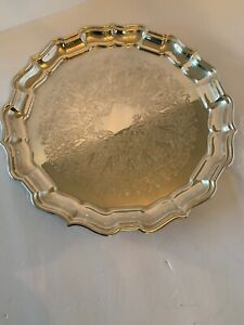 Silver Plated Serving Tray Reed And Barton Chippendale 58 No Flaws Or Scratch