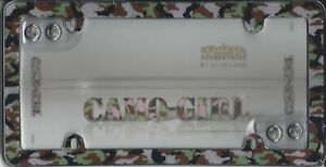 Pink Camo Girl Plastic License Plate Frame Free Screw Caps With This Frame