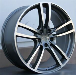 New Set 4 22 22x10 5x130 Wheels Fit Porsche Cayenne Turbo Gti Vw Touareg Tdi