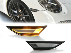 Euro Oe Style Porsche Led Clear Side Marker Light Set 991 981 718 Carrera Cayman