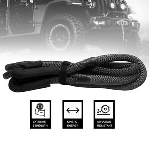 3 4 X 20 Gray Double Braid Nylon Boat Suv Atv Rope Black Eyes Free Bag
