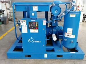 Quincy 100hp Screw Air Compressor Atlas Copco Desiccant Air Dryer Fully Tested