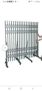 Hallowell Superior Portable Security Gate Partition Wall Room Divider