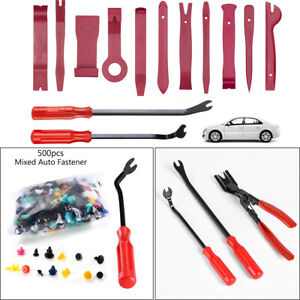 Car Trim Removal Tool Pry Plier Door Panel Dash Radio Audio Interior Clips Kit U