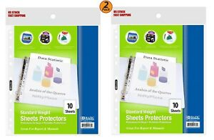 2 Pack Standard Weight Top Loading Sheet Protectors 10 pack Protect Papers
