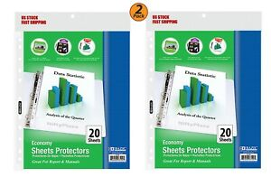 2 Pack Economy Weight Top Loading Sheet Protectors 20 pack Protect Papers
