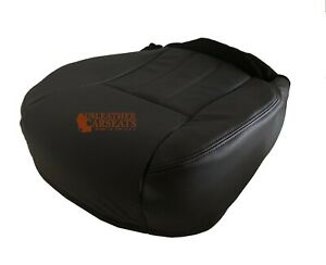 2000 Jeep Grand Cherokee Limited Driver Side Bottom Leather Seat Cover Dark Gray