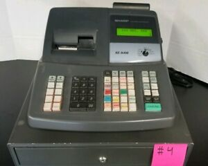 Sharp Xe a406 Electronic Cash Register Only 1 Key No Cash Drawer Tested 4
